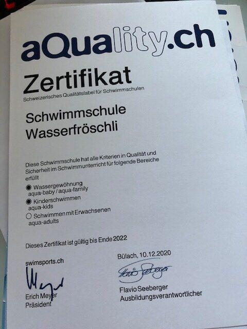 aQuality Zertifizierung